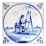 Delftware tile Royalty Free Stock Photos