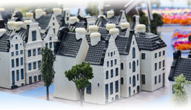 Delftware town. Miniature Dutch village made from Delftware Stock Photography