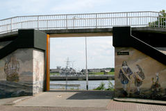Delfzijl graffiti Obrazy Stock