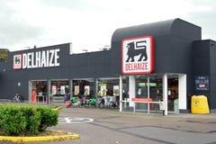 Delhaize supermarket Arkivbild