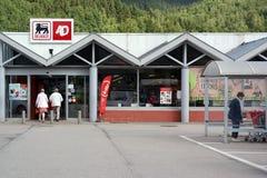 Delhaize supermarket. MALMEDY, BELGIUM - JULY 2015 : Entry of a Delhaize supermarket, part of Delhaize Group, an international food retailer. In 2015 Delhaize Stock Images