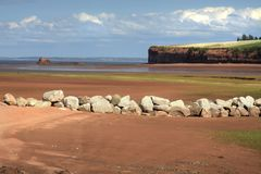 Delhaven Beach in Nova Scotia royalty free stock images