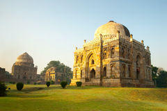 Delhi. An early morning scene from the lovely Lodhi Gardens in New Delhi, India stock photo