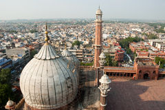 Delhi. An aerial view of the Jama Masjid, Delhi, India Stock Photography