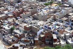 Delhi From Above Stock Images