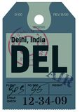Delhi airline tag Royalty Free Stock Photography