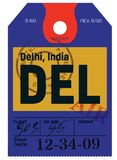 Delhi airline tag Royalty Free Stock Image