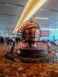 Delhi airport terminal 3. Artwork in International terminal in Delhi's airport stock photos