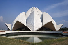 Delhi - Bahai House of Worship - India. The lotus domed Bahai House of Worship in New Delhi in India Royalty Free Stock Image