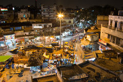 Delhi Bazaar at night Royalty Free Stock Images