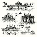 Delhi, Bombay stock illustratie