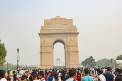 delhi bramy ind zabytek nowy obrazy stock