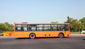 Delhi Bus. Is plying on the road of New Delhi Royalty Free Stock Images
