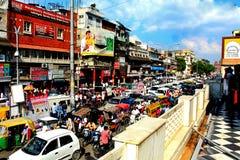 Delhi. Chandni Chowk street Stock Images
