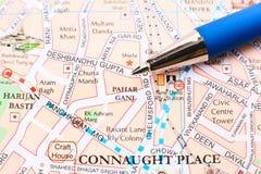 Delhi city map - Pahar Ganj Stock Photos