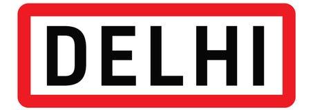 Delhi city sign Stock Images