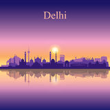 Delhi city skyline silhouette background Royalty Free Stock Image