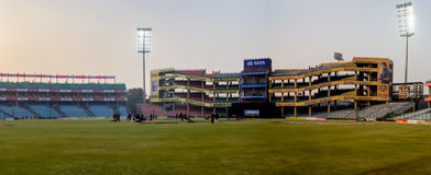 Delhi cricket stadium. The Feroz Shah Kotla stadium in Delhi a day before an international game Royalty Free Stock Photography