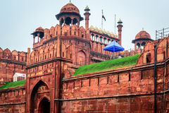 delhi fortred Royaltyfri Bild