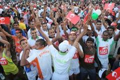delhi half maraton Fotografering för Bildbyråer