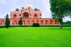 delhi humayunindia s tomb Royaltyfria Bilder