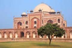 delhi humayunindia s tomb Det var den första trädgård-tomben på den indiska subcontinenten Royaltyfri Bild