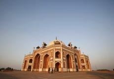 delhi humayunindia tomb Arkivbilder