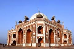 delhi humayunindia tomb Arkivfoto