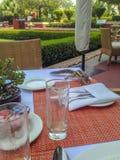Delhi, Inde - 10 mai 2014 : Écureuil sur le Tableau de petit déjeuner Photo libre de droits