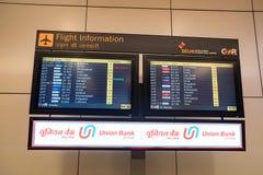 DELHI, INDE - VERS EN NOVEMBRE 2017 : Conseil de vol à l'aéroport dans l'aéroport de Delhi Photo stock