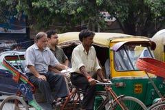 DELHI, INDIA-AUGUST 29: Indian trishaw 29, 2011 in Delhi, India. Stock Photography