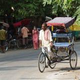 DELHI, INDIA-AUGUST 29: Indian trishaw 29, 2011 in Delhi, India. Stock Photos