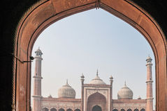 DELHI, INDIA 6 Januari, 2016 JAMA Masjid Stock Foto