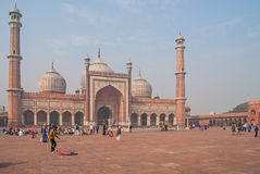 DELHI, INDIA January 6, 2016. The JAMA Masjid Stock Image