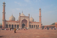 DELHI, INDIA January 6, 2016. The JAMA Masjid Stock Images
