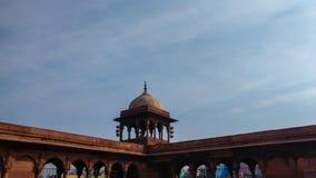 Delhi India, Kwiecień, - 14, 2019: Ściana Jama Masjid, Stary Delhi, India zdjęcie stock