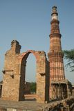 delhi india minar qutab Royaltyfria Foton
