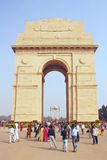 Delhi, India, 31 november, 2011: Poort tegen Stock Foto