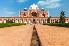 Delhi, India - 19 September, 2014: Daytime view of Humayun's Tomb, UNESCO World Heritage on September 19, 2014, Delhi, India. Royalty Free Stock Image