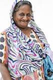 Delhi, India, september 3, 2010: Old indian woman smiling dresse Stock Image