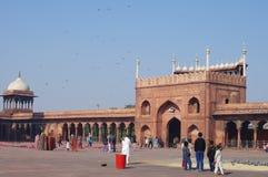 DELHI INDIA, STYCZEŃ, - 03: Widok Jama Masjid meczet Obraz Royalty Free