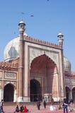 DELHI INDIA, STYCZEŃ, - 03: Widok Jama Masjid meczet Zdjęcie Stock