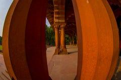 DELHI INDIA, WRZESIEŃ, - 25 2017: Wnętrza Czerwony fort w Delhi, India, fort byli siedzibą Mughal cesarz Zdjęcia Stock