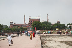 Delhi Jama Masjid Mosque Stock Photography