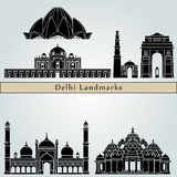 Delhi Landmarks Royalty Free Stock Images