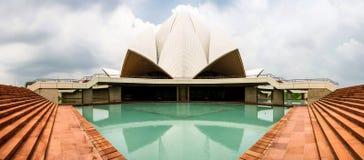 delhi lotusblommatempel Arkivbilder