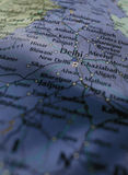 Delhi Map Stock Photography