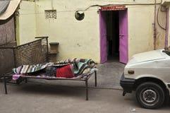 delhi morgon Fotografering för Bildbyråer