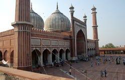 delhi moské Royaltyfri Fotografi