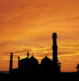 Delhi Mosque sunset Stock Photos